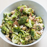 Roasted Broccoli Salad with Bacon