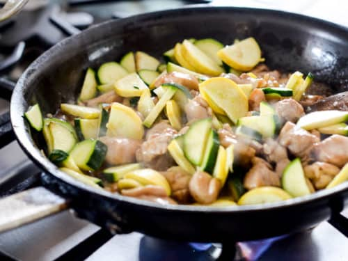 Healthy Chicken Stir Fry Recipe with Zucchi via BestRecipeBox.com