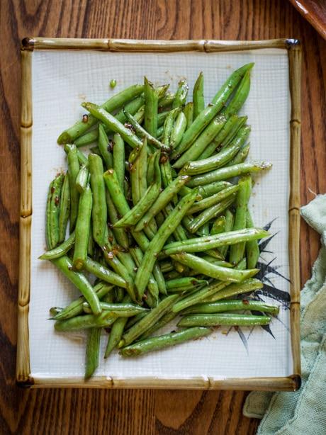 Sesame Green Beans Recipe- Easy Vegetable Recipe on a plate