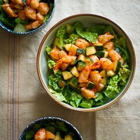 Sriracha Shrimp Cocktail Salad Recipe