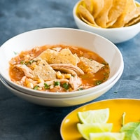 Slow Cooker Chicken Tortilla Soup thumbnail