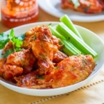 """Healthier"" Crispy Sriracha Chicken Wings"