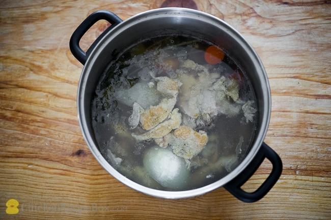 How to Make Homemade Chicken Stock, Recipe and Video via ChickenRecipeBox.com