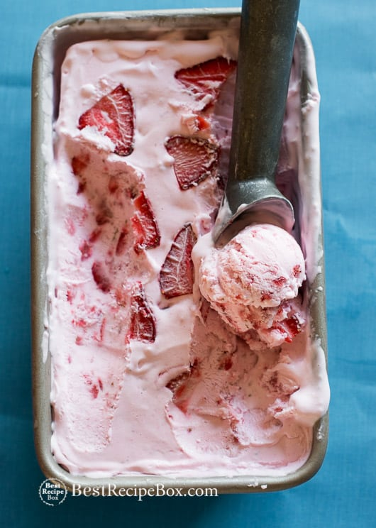 Easy Strawberry Ice Cream Recipe No Churn 3 Ingredients