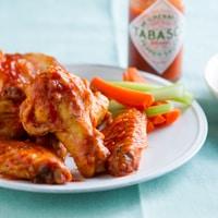 """Healthier"" Crispy Baked Tabasco Chicken Wings"