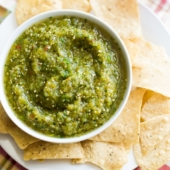 Easy tomatillo Salsa Recipe | Green Salsa Recipe from @bestrecipebox.com