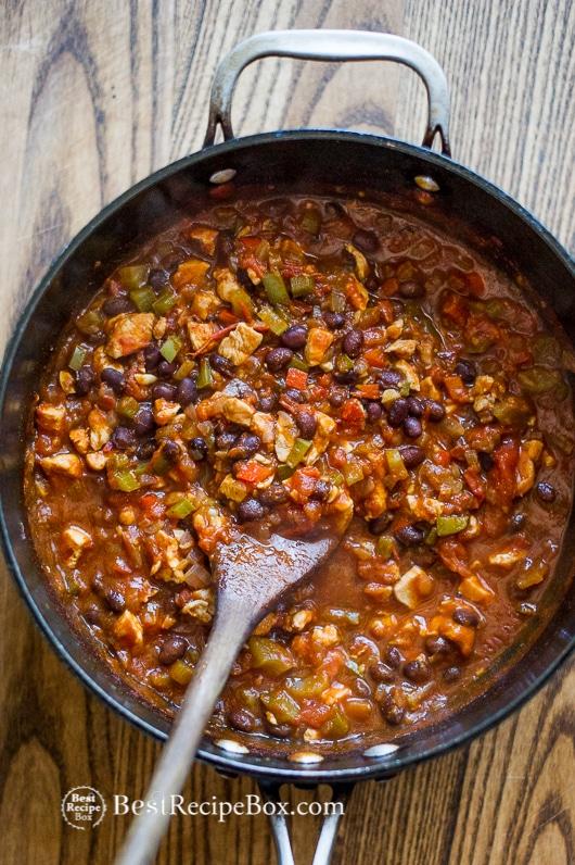 Fresh Chicken Chili Recipe that's Healthy | @bestrecipebox
