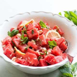 Watermelon Feta Salad with Fresh Mint