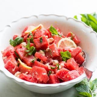 Watermelon Feta Salad with Fresh Mint