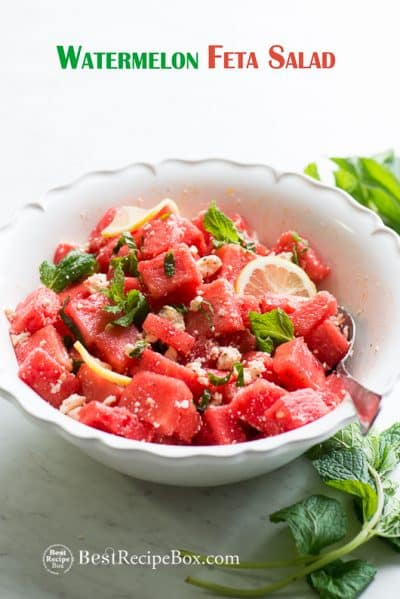 Refreshing Healthy Watermelon Salad Recipe with Mint for Summer | @bestrecipebox