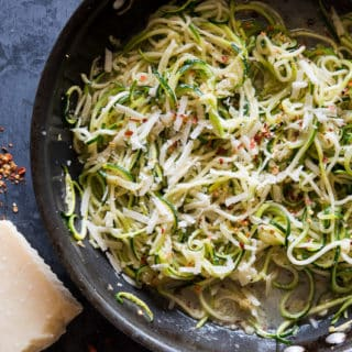 Zucchini Noodles with Parmesan, Garlic HEALTHY and delicious! | @bestrecipebox