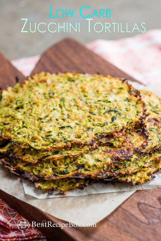 Healthy Zucchini Tortilla Recipe Low Carb and Delicious | @bestrecipebox